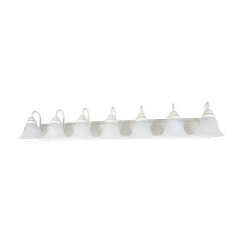 Nuvo Lighting Bathroom Light with Alabaster Glass in Textured White Finish 60/294
