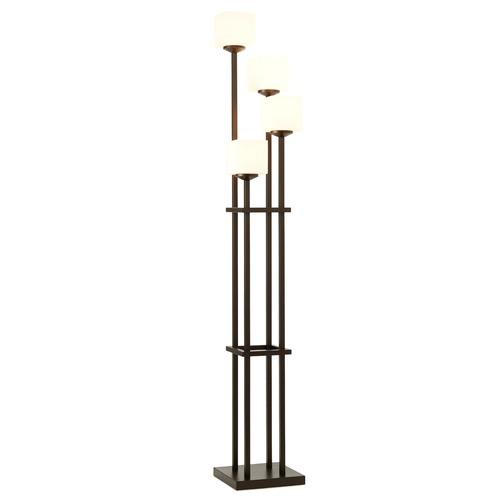Design Classics Lighting Bronze Linear Floor Lamp with Four Lights 1119-206