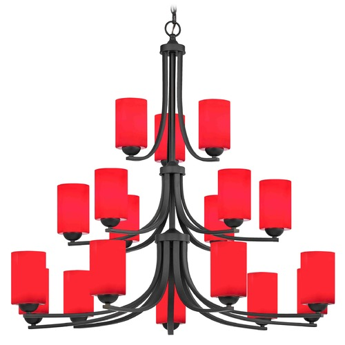 Design Classics Lighting Design Classics Dalton Fuse Neuvelle Bronze Chandelier 5863-220 GL1008C