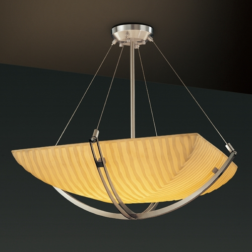 Justice Design Group Justice Design Group Porcelina Collection Pendant Light PNA-9721-25-WFAL-NCKL
