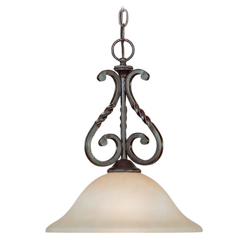 Jeremiah Lighting Jeremiah Sutherland English Toffee Mini-Pendant Light with Bowl / Dome Shade 22421-ET