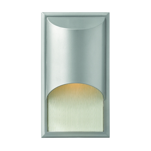Hinkley Lighting Modern LED Outdoor Wall Light with Etched in Titanium Finish 1830TT-LED