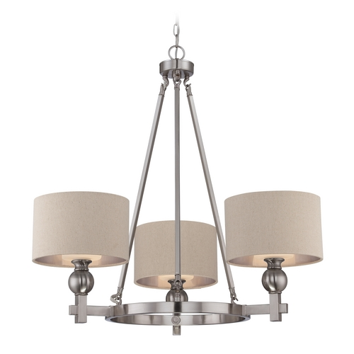 Quoizel Lighting Modern Chandelier in Brushed Nickel Finish CKMO5003BN