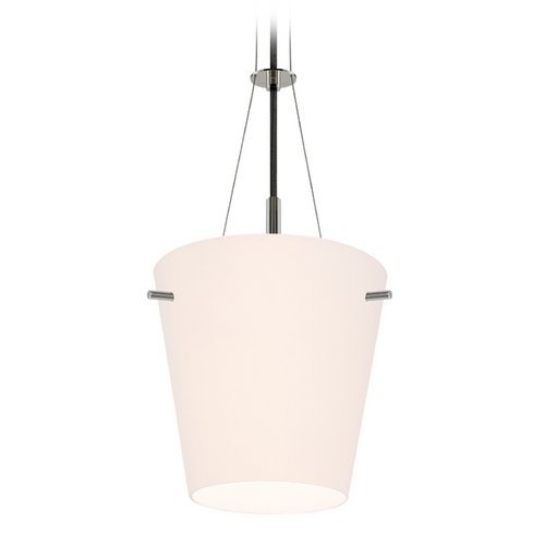 Sonneman Lighting Modern Pendant Light with White Glass in Polished Nickel Finish 3298.35