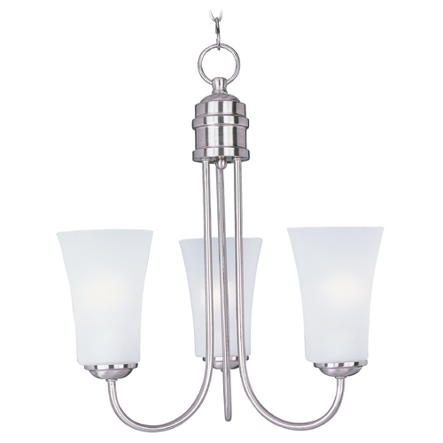 Maxim Lighting Maxim Lighting Logan Satin Nickel Chandelier 10043FTSN