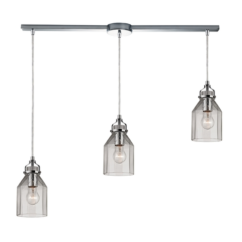 Elk Lighting Multi-Light Pendant Light with Clear Glass and 3-Lights 46019/3L