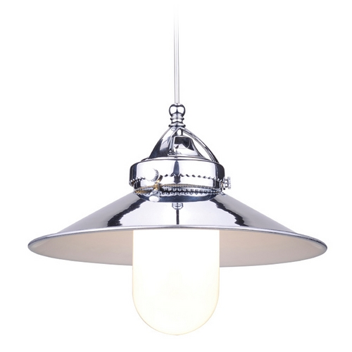 WAC Lighting Wac Lighting Early Electric Collection Chrome LED Mini-Pendant with Coolie Shade MP-LED481-CH/CH