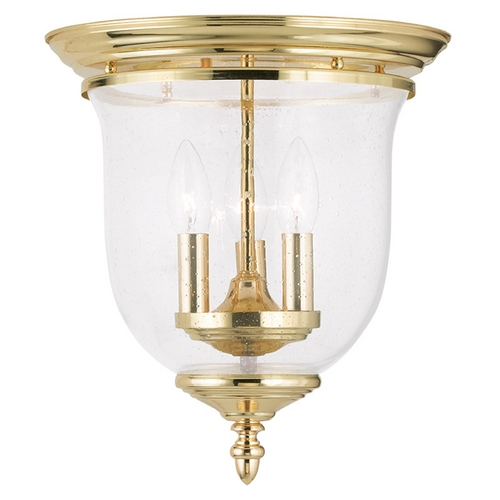 Livex Lighting Livex Lighting Legacy Polished Brass Flushmount Light 5024-02