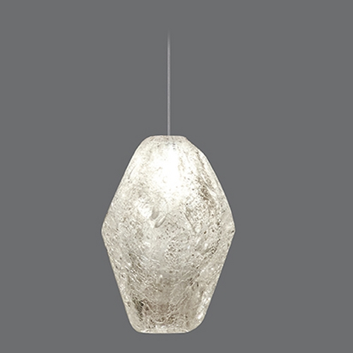 Fine Art Lamps Fine Art Lamps Natural Inspirations Gold-Toned Silver Leaf Mini-Pendant Light 851840-24ST