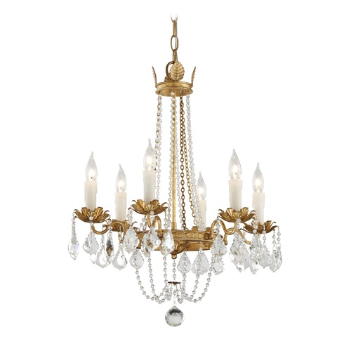 Troy Lighting Troy Lighting Viola Distressed Gold Leaf Chandelier F5365