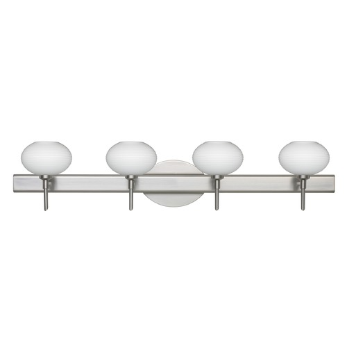 Besa Lighting Besa Lighting Lasso Satin Nickel LED Bathroom Light 4SW-561207-LED-SN