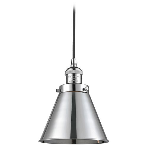 Innovations Lighting Innovations Lighting Appalachian Polished Chrome Mini-Pendant Light with Conical Shade 201C-PC-M13-PC