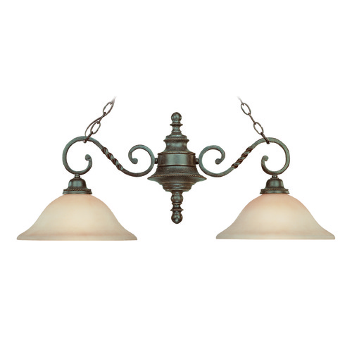 Jeremiah Lighting Jeremiah Sutherland English Toffee Island Light with Bowl / Dome Shade 22422-ET