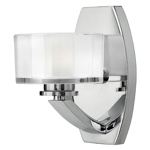 Hinkley Sconce with White Glass in Chrome Finish 5590CM