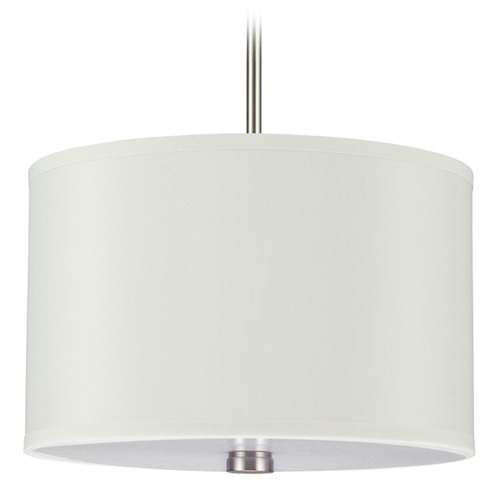 Sea Gull Lighting Sea Gull Lighting Dayna Shade Pendants Brushed Nickel Pendant Light with Drum Shade 65264BLE-962