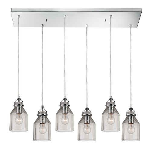 Elk Lighting Multi-Light Pendant Light with Clear Glass and 6-Lights 46019/6RC