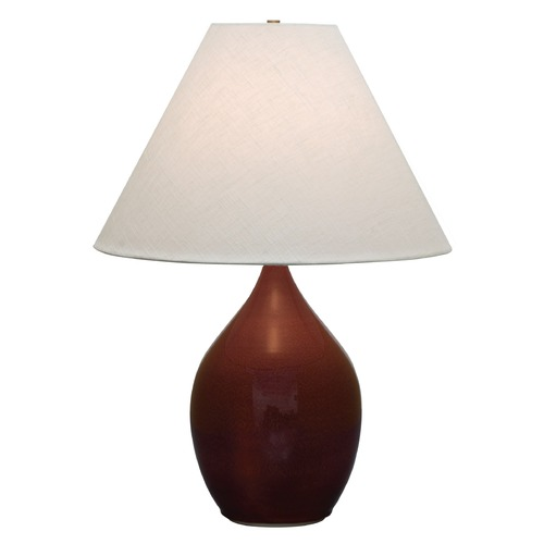 House of Troy Lighting House Of Troy Scatchard Copper Red Table Lamp with Conical Shade GS400-CR