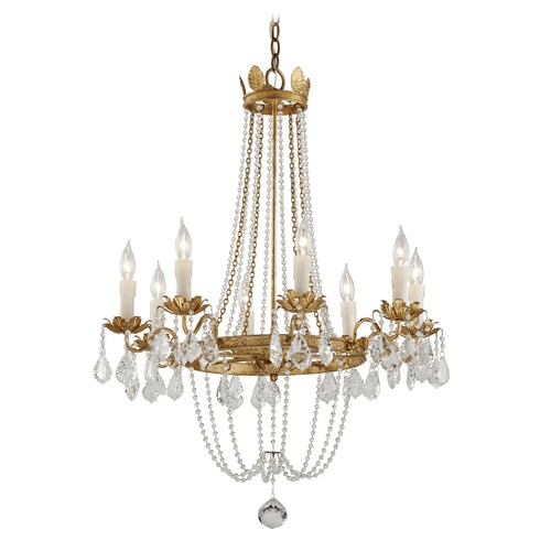 Troy Lighting Troy Lighting Viola Distressed Gold Leaf Chandelier F5366