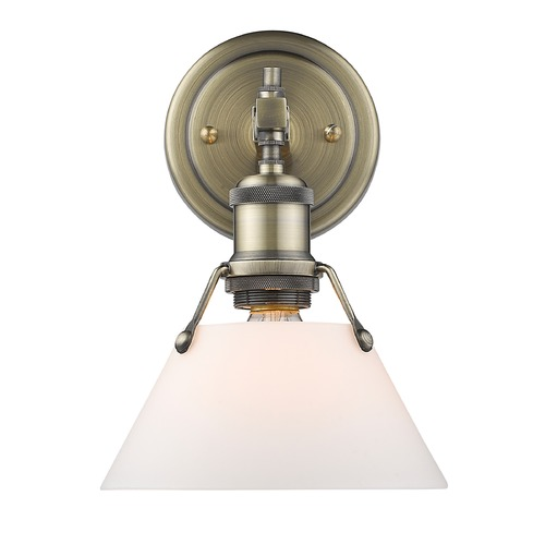 Golden Lighting Golden Lighting Orwell Ab Aged Brass Sconce 3306-BA1 AB-OP