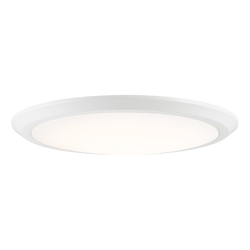 Quoizel Lighting Modern LED Flushmount Light White Verge by Quoizel Lighting VRG1620W