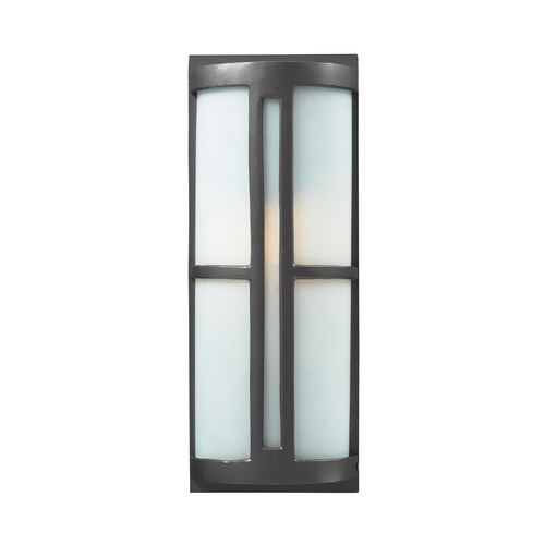 Elk Lighting Outdoor Wall Light with White Glass in Graphite Finish 42395/1