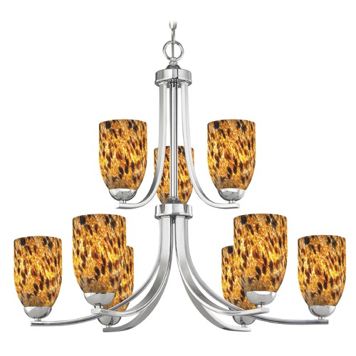 Design Classics Lighting Design Classics Dalton Fuse Chrome Chandelier 586-26 GL1005D