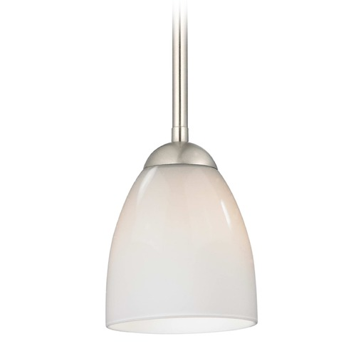 Design Classics Lighting Design Classics Gala Fuse Satin Nickel LED Mini-Pendant Light with Bell Shade 681-09 GL1024MB