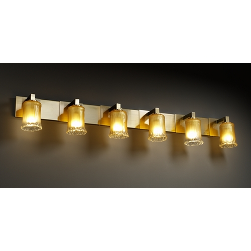 Justice Design Group Justice Design Group Veneto Luce Collection Bathroom Light GLA-8926-16-GLDC-ABRS