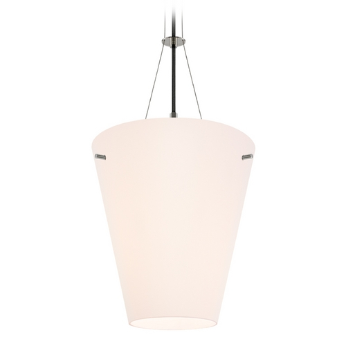Sonneman Lighting Modern Pendant Light with White Glass in Polished Nickel Finish 3299.35
