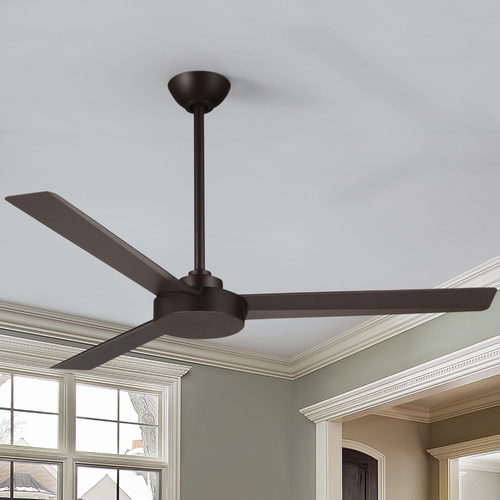 Minka Aire 52-Inch Minka Aire Fans Roto Oil-Rubbed Bronze Ceiling Fan Without Light F524-ORB