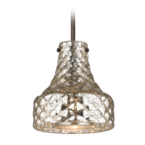 Elk Lighting Mini-Pendant Light with Mercury Glass 46023/1