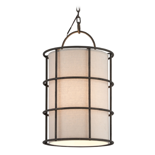 Troy Lighting Troy Lighting Haven Liberty Rust Pendant Light with Cylindrical Shade F3914
