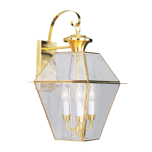 Livex Lighting Livex Lighting Westover Polished Brass Outdoor Wall Light 2381-02