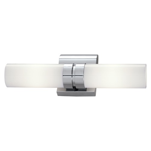 Norwell Lighting Norwell Lighting Wave Brush Nickel Bathroom Light 8902-BN-SO
