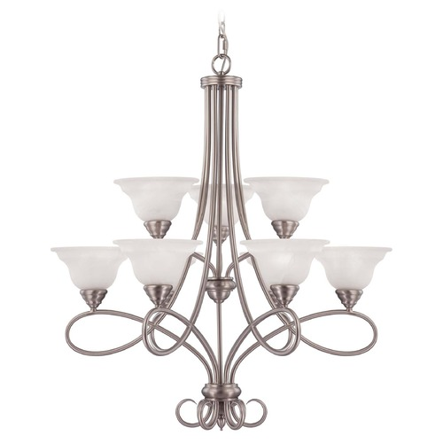 Savoy House Savoy House Pewter Chandelier 1-121-9-69