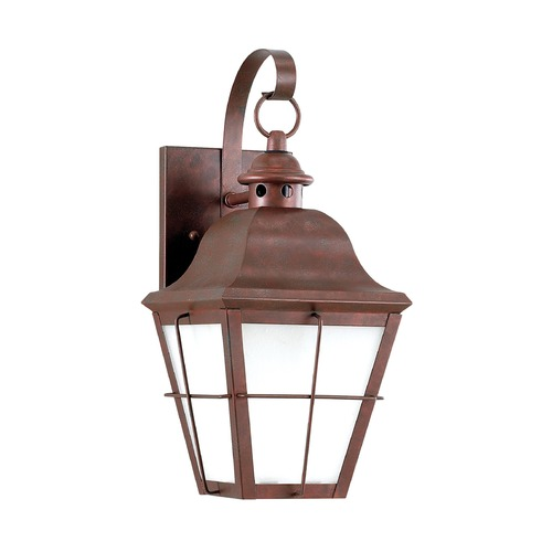 Sea Gull Lighting Frosted Seeded Glass Outdoor Wall Light Copper Sea Gull Lighting 89062-44