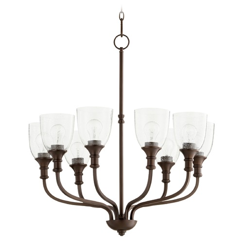 Quorum Lighting Quorum Lighting Richmond Oiled Bronze Chandelier 6811-8-186