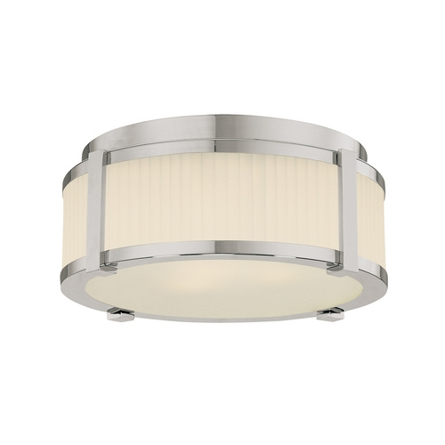 Sonneman Lighting Flushmount Light with White Glass in Polished Nickel Finish 4354.35