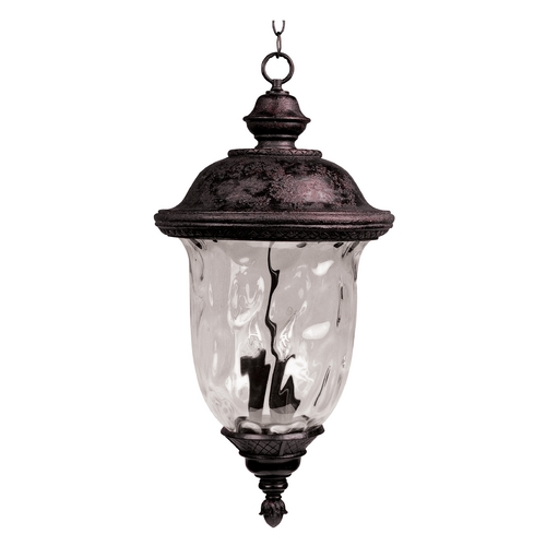 Maxim Lighting Outdoor Hanging Light with Clear Glass in Oriental Bronze Finish 40427WGOB