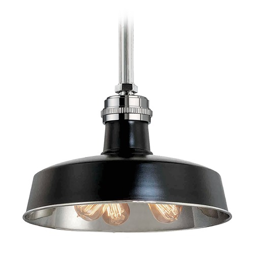 Hudson Valley Lighting Modern Pendant Light in Black Polished Nickel Finish 8618-BPN