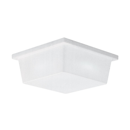 Sea Gull Lighting Close To Ceiling Light with White in White Plastic Finish 7916BLE-68