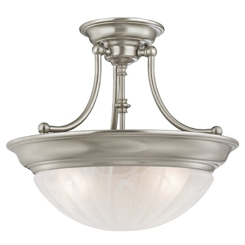 Design Classics Lighting Three-Light Semi-Flush Ceiling Light 765ES-09