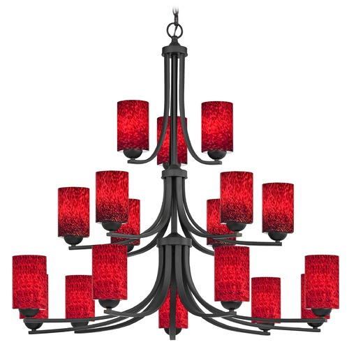 Design Classics Lighting Design Classics Dalton Fuse Neuvelle Bronze Chandelier 5863-220 GL1018C