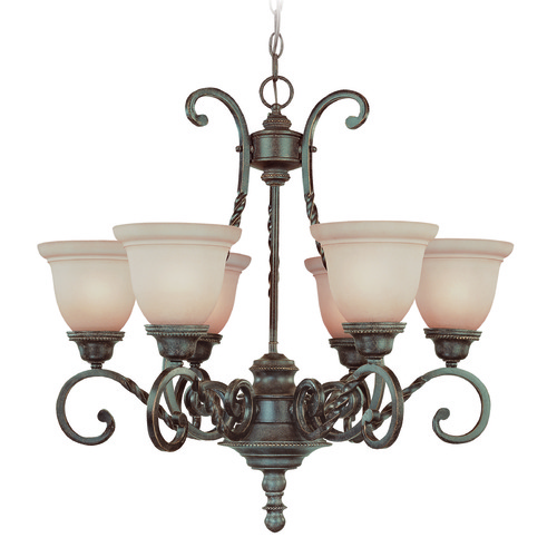 Jeremiah Lighting Jeremiah Sutherland English Toffee Chandelier 22426-ET