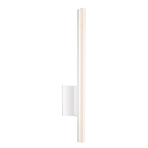 Sonneman Lighting Stiletto LED Satin White LED Bathroom Light - Vertical Mounting Only 2340.03-DIM