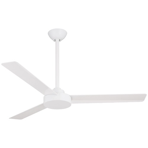 Minka Aire 52-Inch Minka Aire Roto Flat White Ceiling Fan Without Light F524-WHF