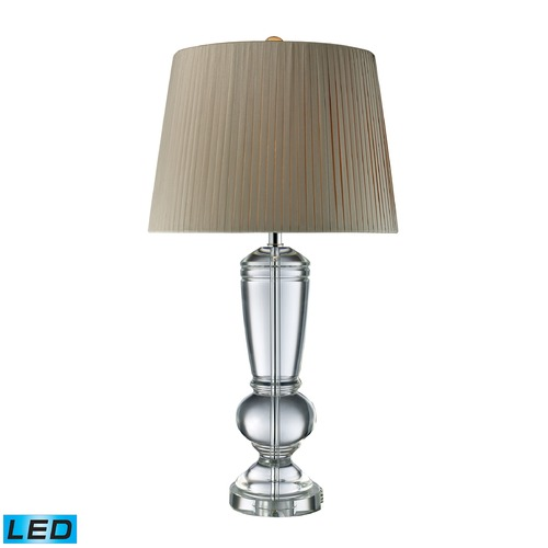 Dimond Lighting Dimond Lighting Clear Crystal LED Table Lamp with Empire Shade D1811-LED