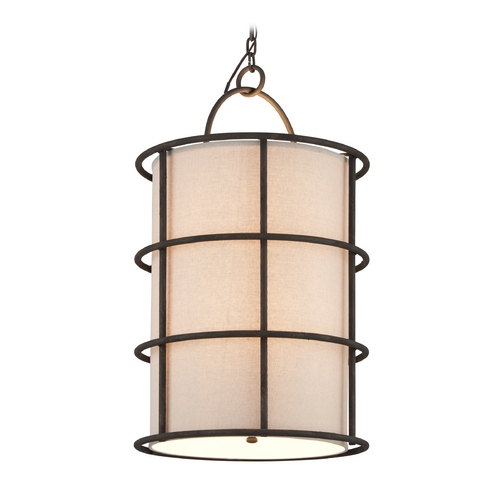 Troy Lighting Troy Lighting Haven Liberty Rust Pendant Light with Cylindrical Shade F3916