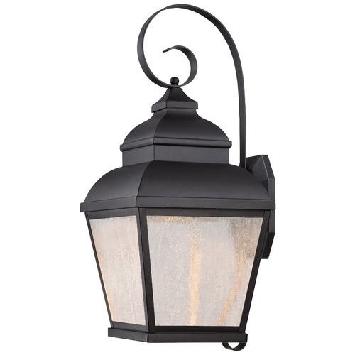 Minka Lavery Seeded Glass LED Outdoor Wall Light Black Minka Lavery 8263-66-L