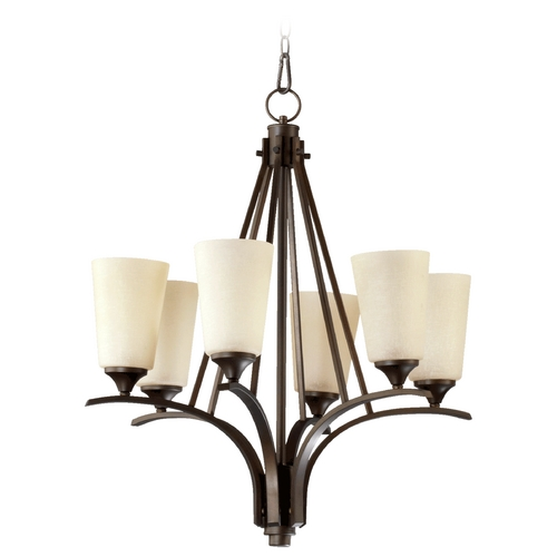 Quorum Lighting Quorum Lighting Winslet Ii Oiled Bronze Chandelier 6129-6-186